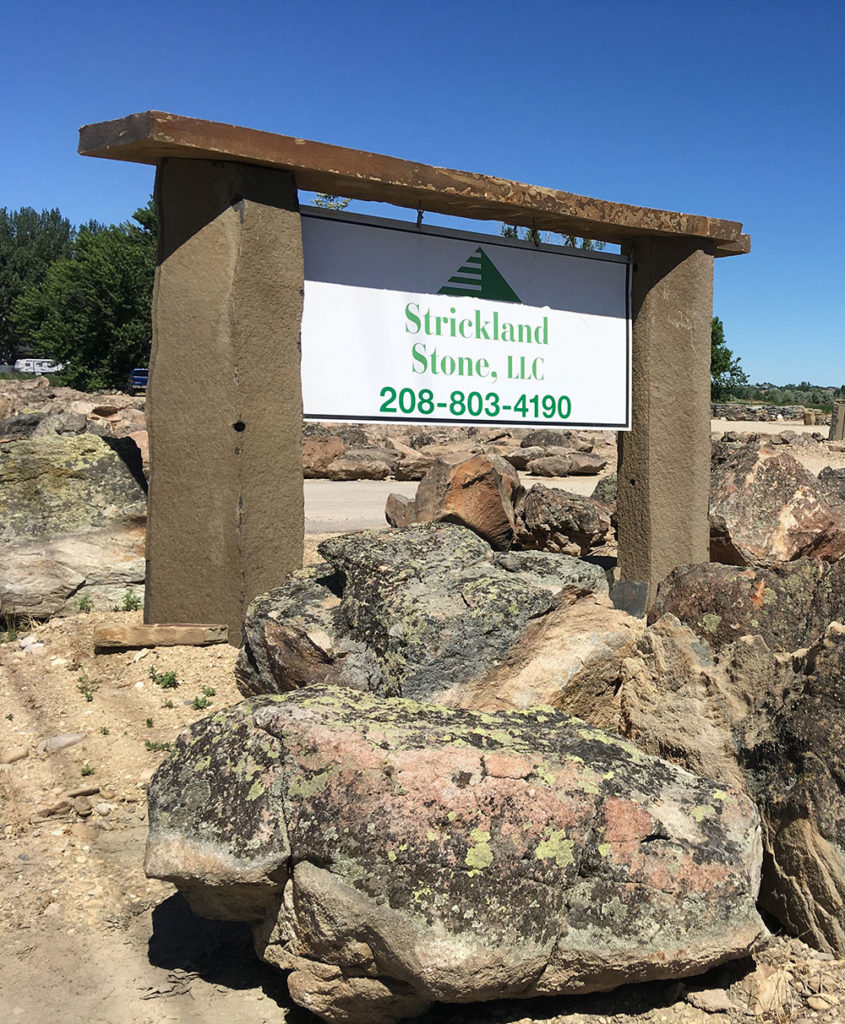 Strickland Stone, llc Sign with Phone number